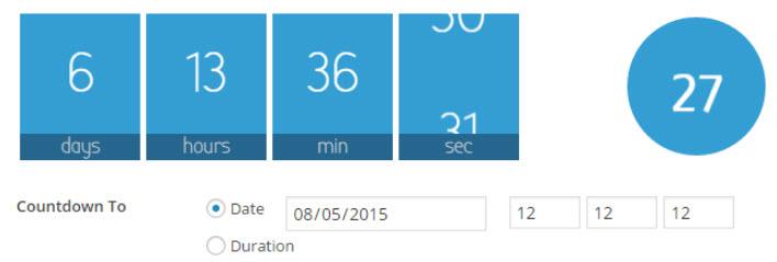شمارش گر معکوس در وردپرس با افزونه Waiting One click countdowns