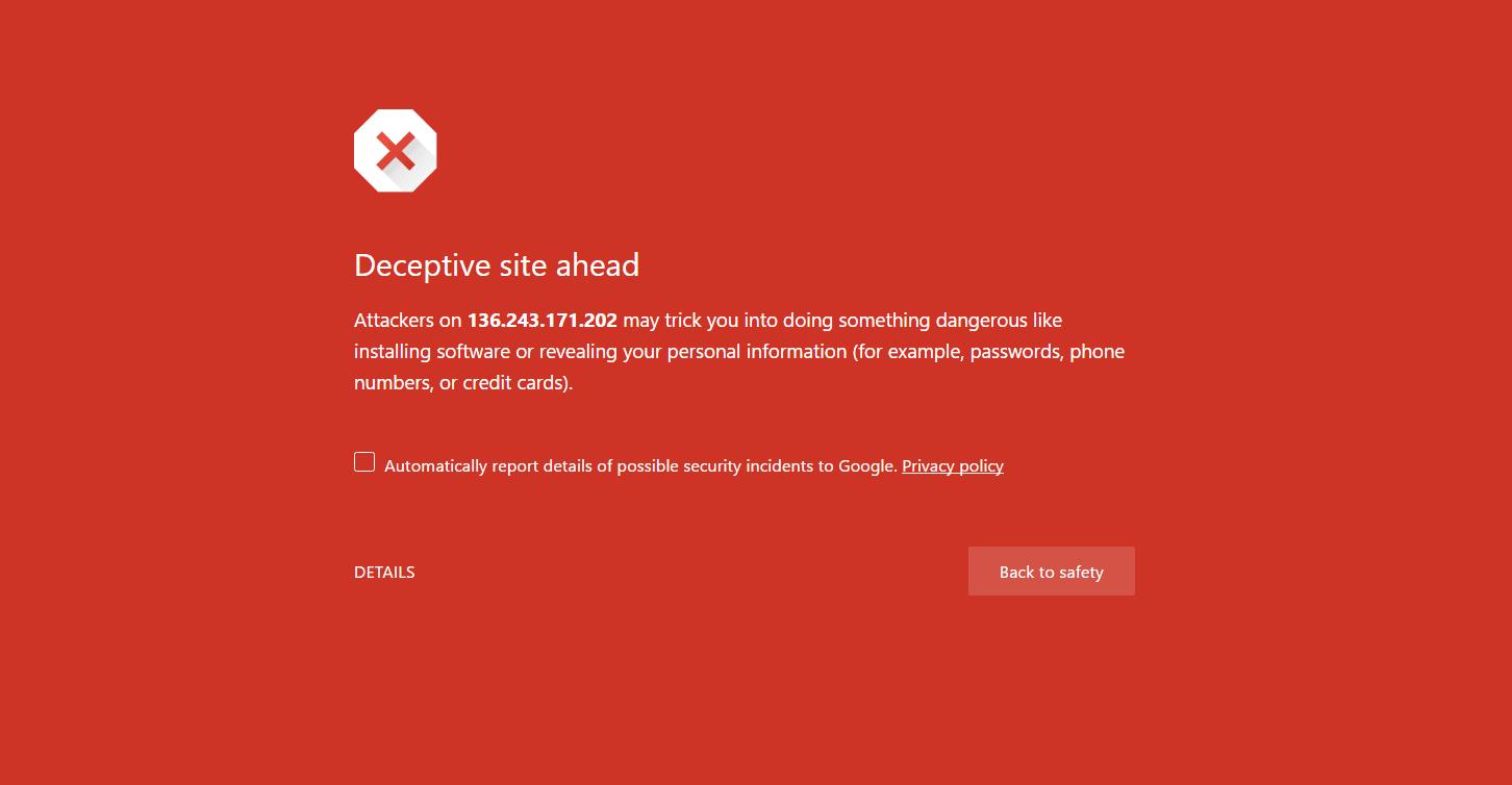 رفع خطای Deceptive site ahead در وردپرس