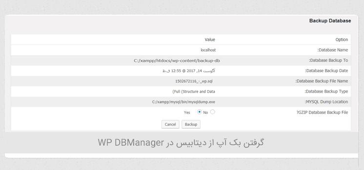 مدیریت دیتابیس در وردپرس با افزونه WP DBManager