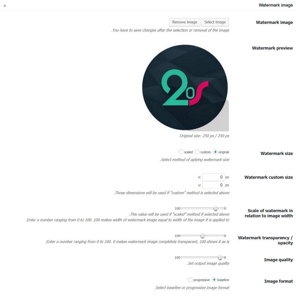 قرار دادن واترمارک در تصاویر وردپرس با افزونه Image Watermark