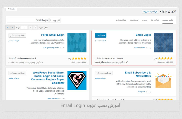 آموزش ورود به سایت وردپرسی با ایمیل Email Login