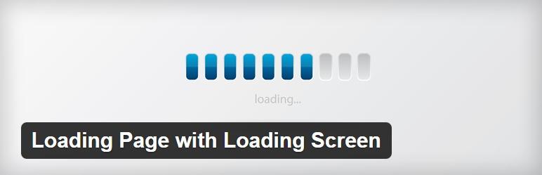 ایجاد صفحه انتظار قبل از بارگذاری سایت با افزونه Loading Page