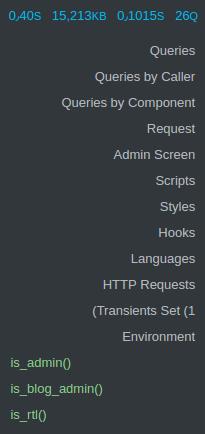 آنالیز افزونه و قالب وردپرس با افزونه Query Monitor
