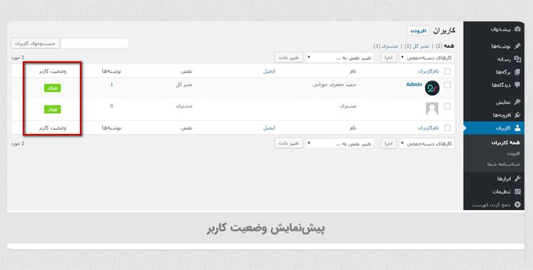 مسدود کردن حساب کاربری در وردپرس با افزونه Block User Account
