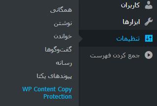 افزونه جلوگیری از کلیک راست در وردپرس WP Content Copy Protection