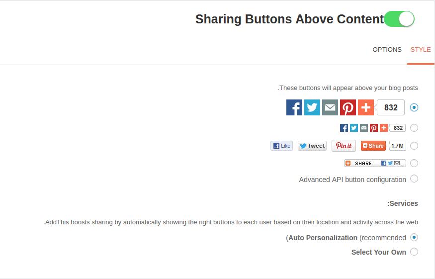 افزودن دکمه اشتراک گذاری مطالب وردپرس با افزونه Share Buttons by AddThis