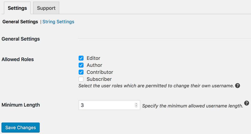 تغییر نام کاربری کاربران در وردپرس با افزونه Username Changer