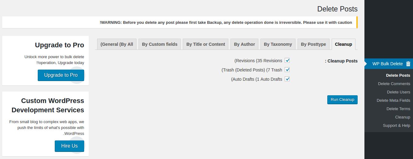 حذف یکجا مطالب ، نظرات و کاربران در وردپرس با افزونه WP Bulk Delete