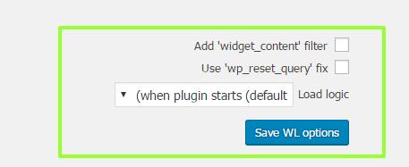 افزونه وردپرس مدیریت ابزارک ها Widget Logic