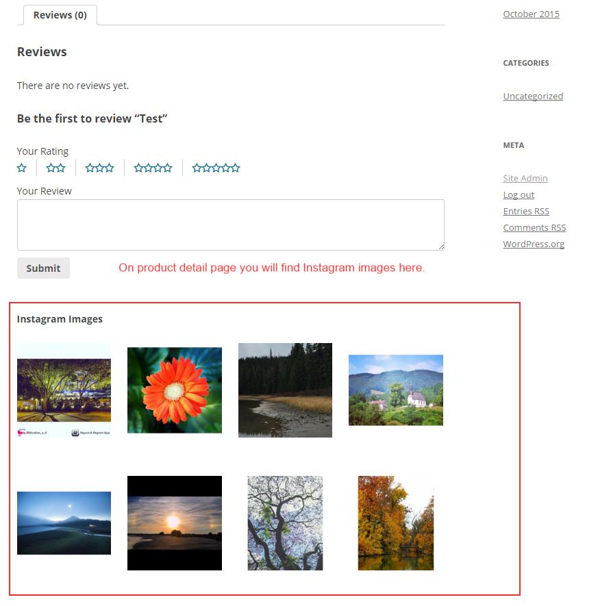 نمایش تصاویر اینستاگرام در محصولات ووکامرس