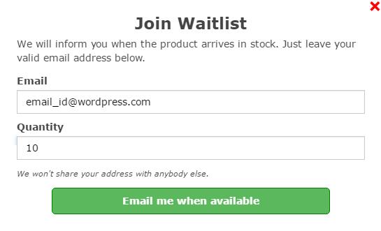 اطلاع رسانی از موجود شدن محصولات در ووکامرس WooCommerce Waitlist