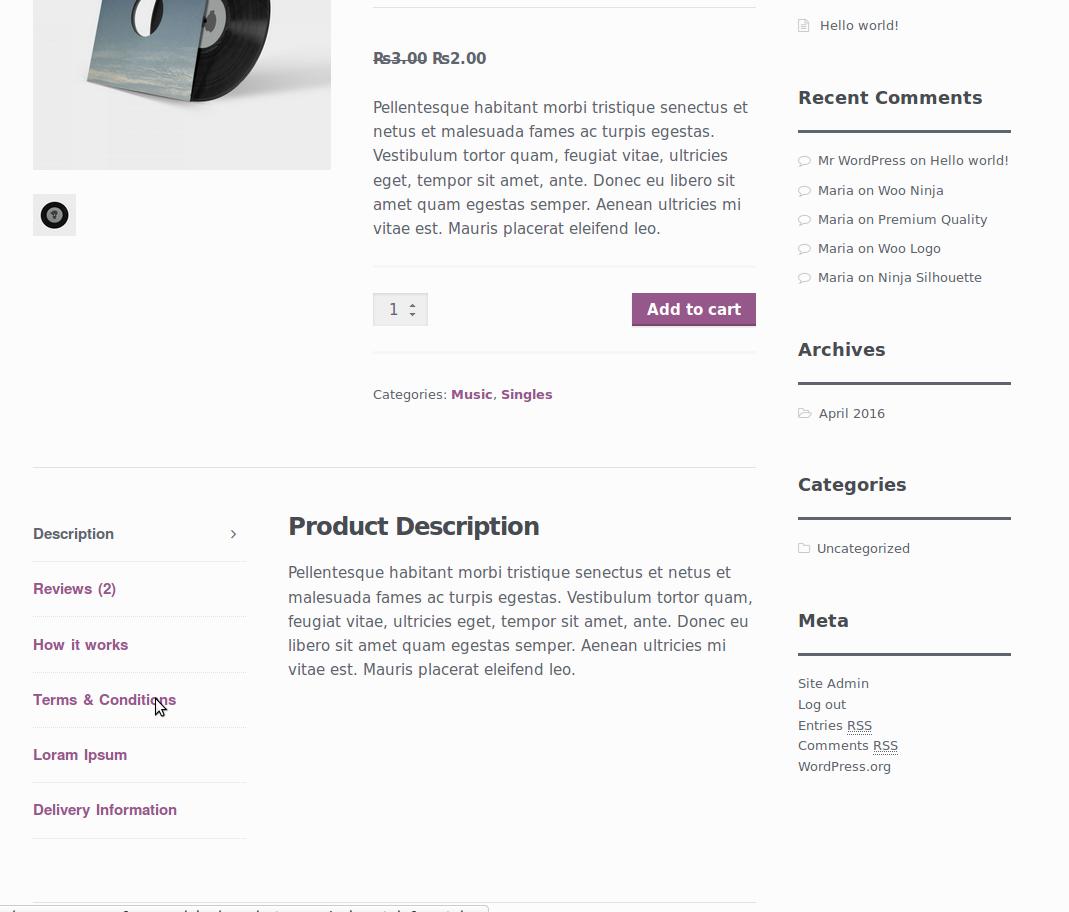 افزودن تب سفارشی به محصولات ووکامرس Woocommerce Custom Product Tabs