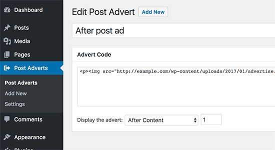 افزودن امضا و تبلیغات در انتهای مطالب وردپرس با افزونه Insert Post Ads