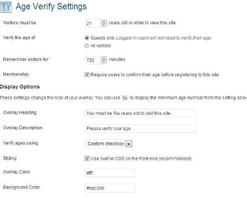 افزودن قابلیت تایید سن در وردپرس با افزونه Age Verify
