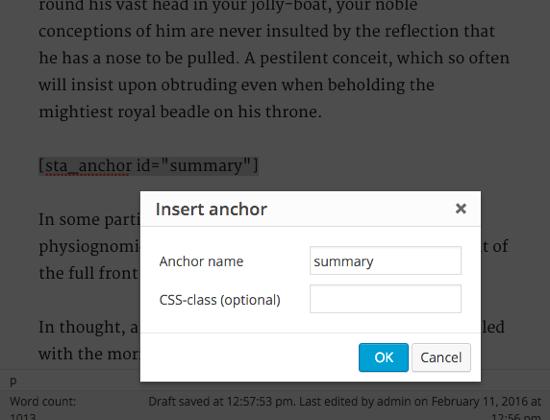 ساخت لینک به نقاط مختلف یک برگه در وردپرس با افزونه Anchor Link