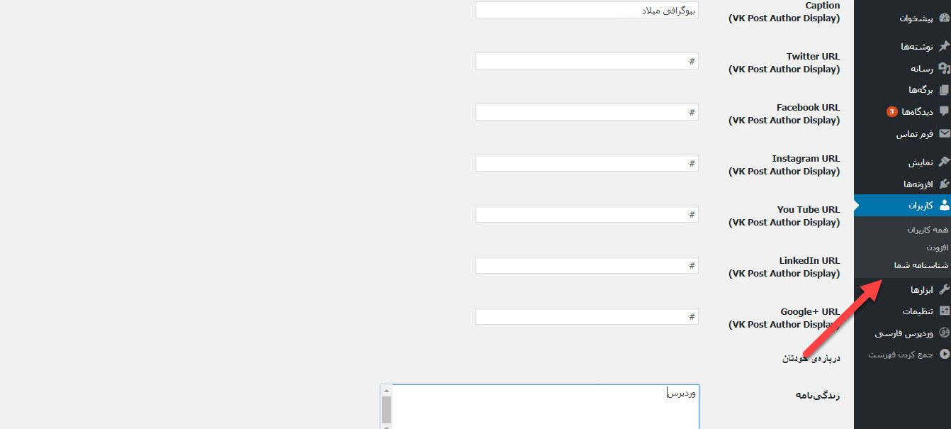 نمایش اطلاعات نویسنده در وردپرس با افزونه VK Post Author Display