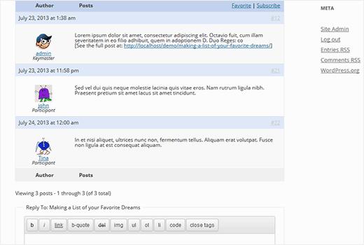 افزودن انجمن BBPress به عنوان کامنت در پست ها