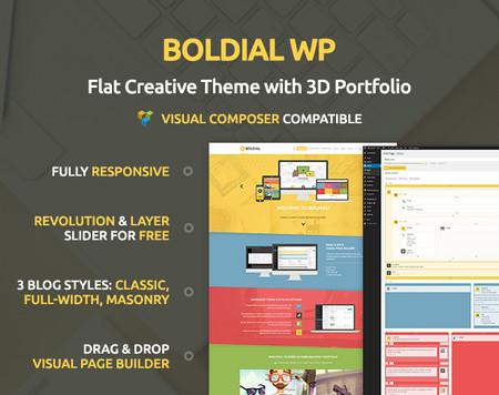 دانلود قالب شرکتی و نمونه کار Boldial WP برای وردپرس
