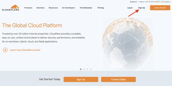 نصب Cloudflare روی سایت و انجام تنظیمات آن