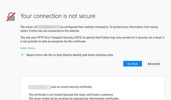 چگونه خطای Your Connection is Not Private را برطرف کنیم؟