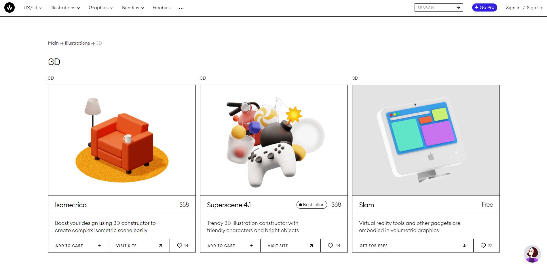 معرفی ۴ سایت دانلود رایگان وکتور سه بعدی برای طراحی سایت