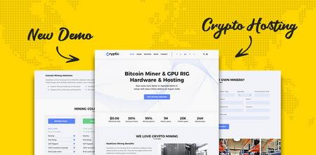 دانلود قالب فروش ارز دیجیتال Cryptic برای وردپرس
