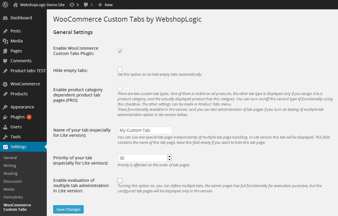 ساخت تب سفارشی برای محصولات ووکامرس Woocommerce Custom Tabs