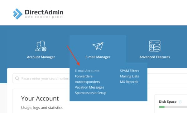 ساخت ایمیل info برای سایت در سی پنل و دایرکت ادمین