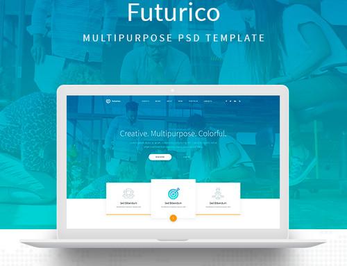 دانلود قالب HTML و چندمنظوره Futurico