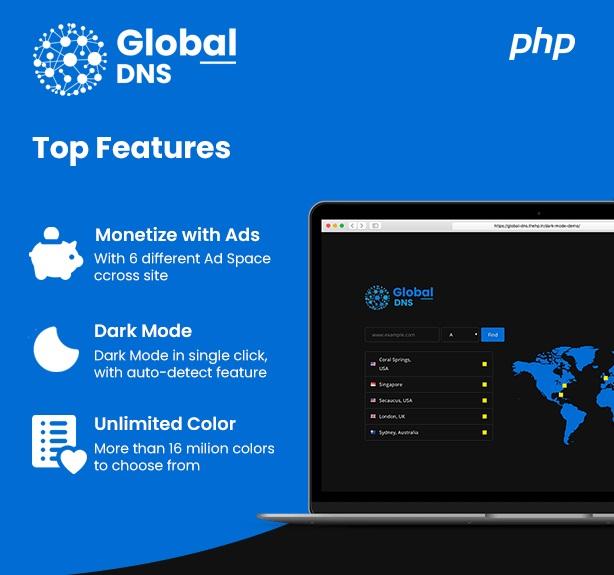 جستجوگر سوابق DNS با اسکریپت Global DNS