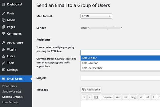 ارسال ایمیل به تمام کاربران سایت در وردپرس