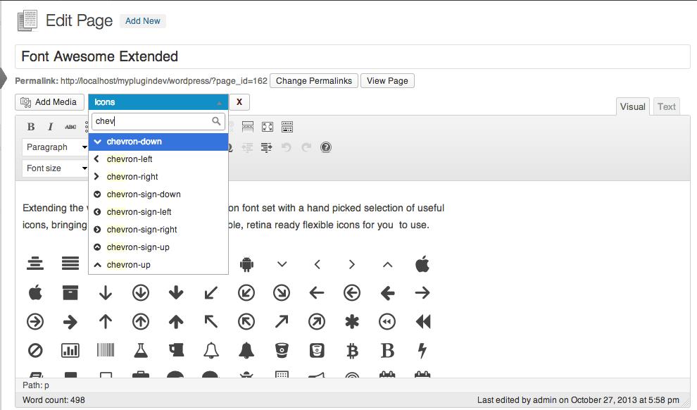 استفاده از فونت آیکون در وردپرس بدون نیاز به HTML