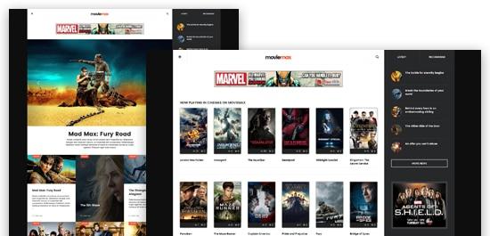 دانلود قالب فیلم JA Moviemax برای جوملا