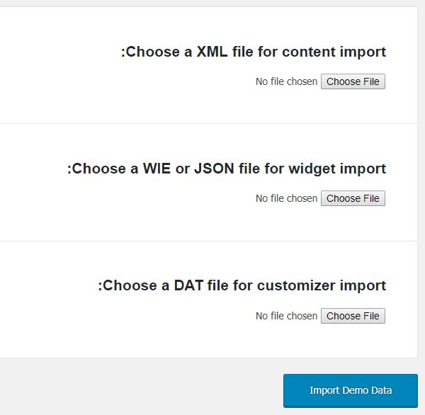 عملیات درون ریزی در وردپرس تنها با یک کلیک با افزونه One Click Demo Import