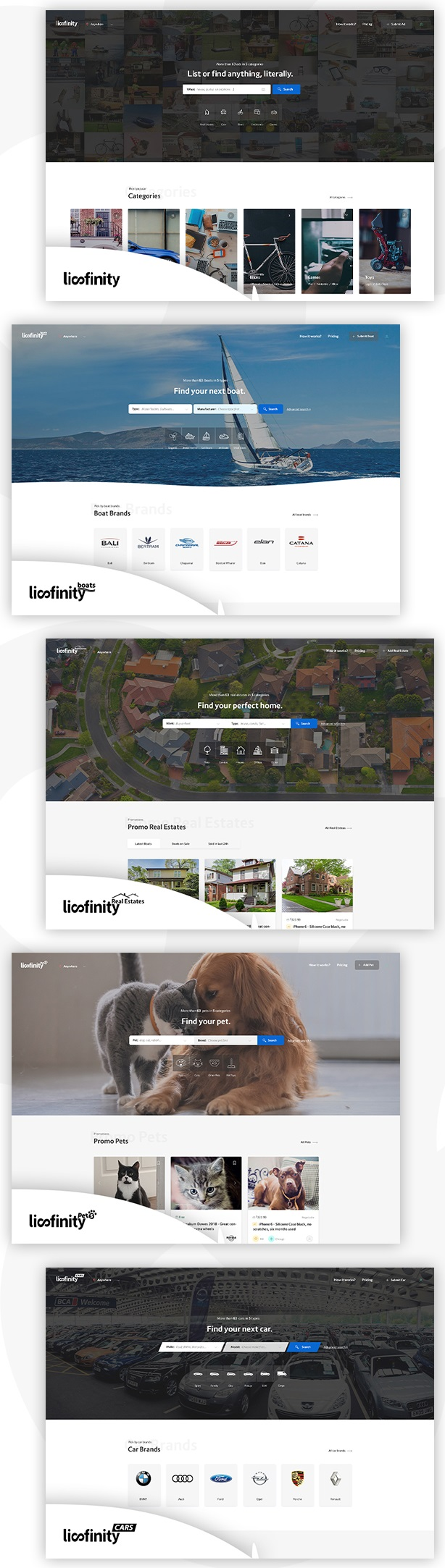 دانلود قالب آگهی لیسفینیتی Lisfinity برای وردپرس