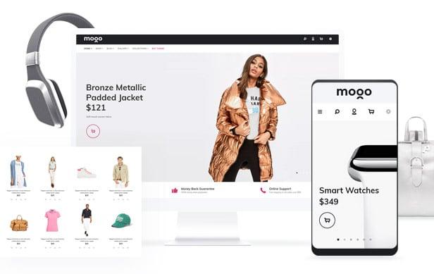 دانلود قالب HTML فروشگاهی و تجارت الکترونیک MOGO