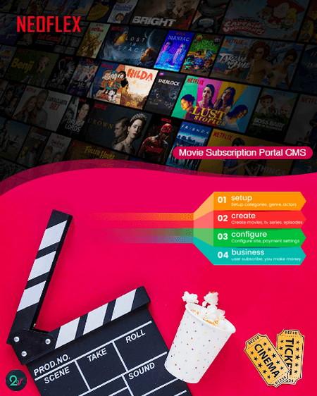 اسکریپت راه اندازی سایت اشتراک ماهانه تماشای فیلم و سریال Neoflex