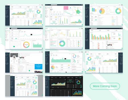 قالب مدیریت وب سایت Philbert به صورت HTML و UI Kit