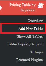 ساخت جدول قیمت گذاری در وردپرس با افزونه Pricing Table by Supsystic