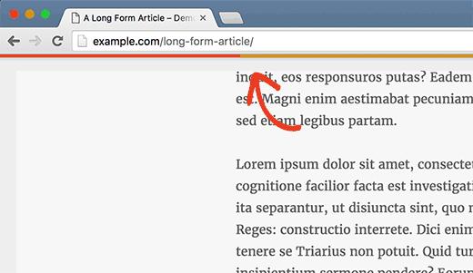 اضافه کردن نمایش پیشرفت خواندن نوشته در وردپرس