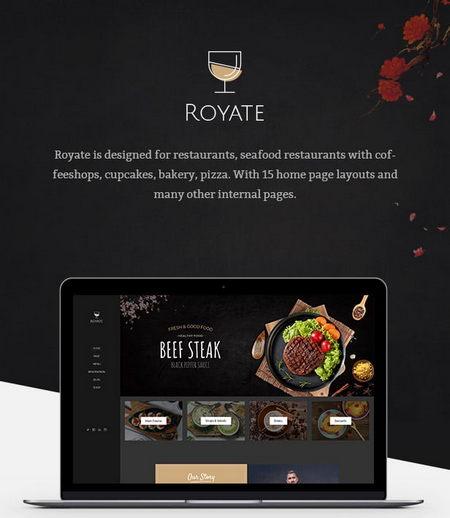 دانلود قالب HTML مناسب رستوران Royate
