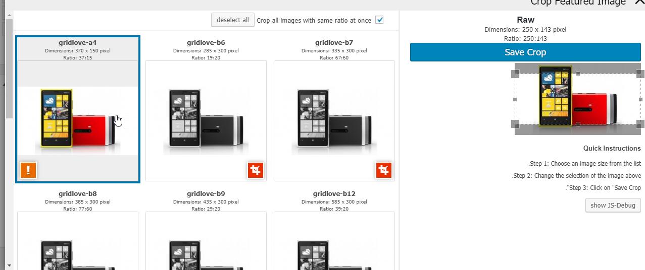بریدن بخشی از تصاویر بند انگشتی در وردپرس با افزونه Crop Thumbnails
