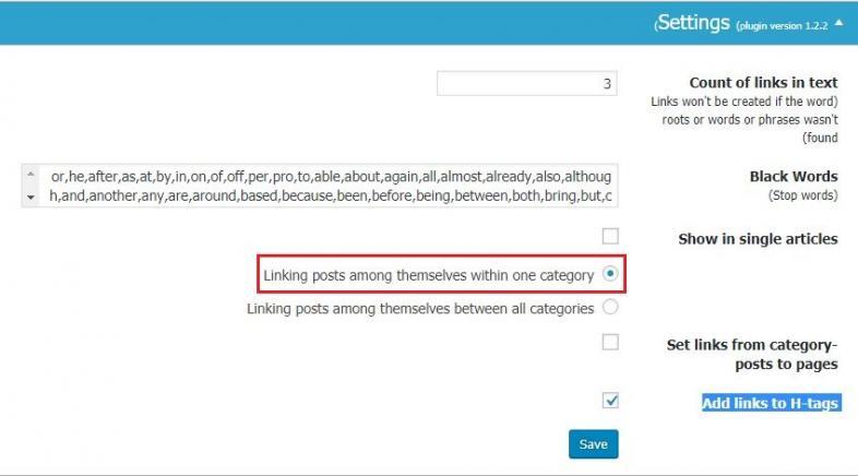 ایجاد لینک های داخلی در وردپرس با افزونه SEO Post Content Links