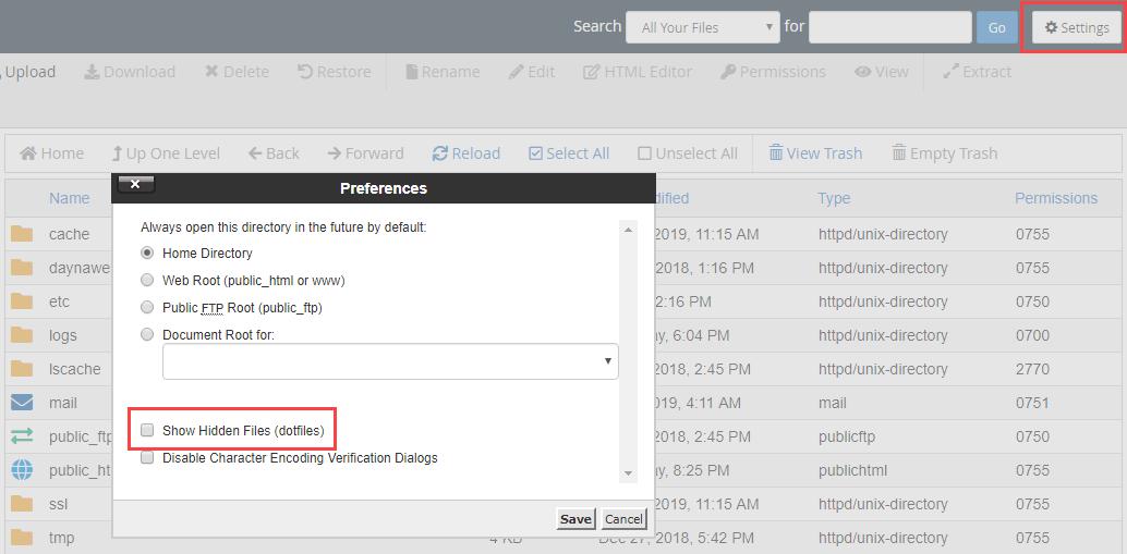 روش پیدا کردن فایل htaccess در وردپرس