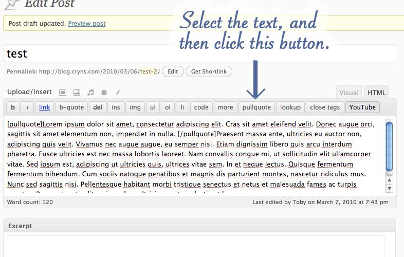 افزونه ایجاد نقل قول در نوشته های وردپرس Simple Pull Quote