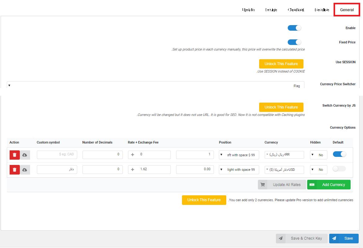 پشتیبانی از دو واحد پولی در وردپرس با افزونه Multi Currency for WooCommerce