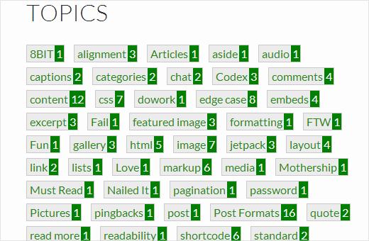 تغییر استایل و نمایش برچسب ها در وردپرس