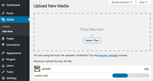 اضافه کردن فایل های صوتی به تصاویر در وردپرس