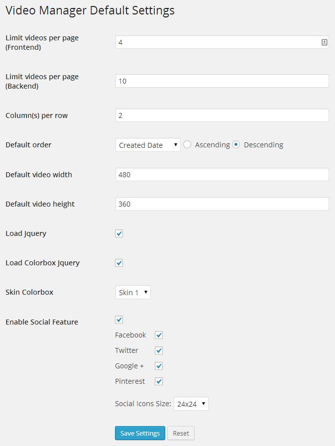 افزونه وردپرس مدیریت و نمایش ویدئو Video List Manager