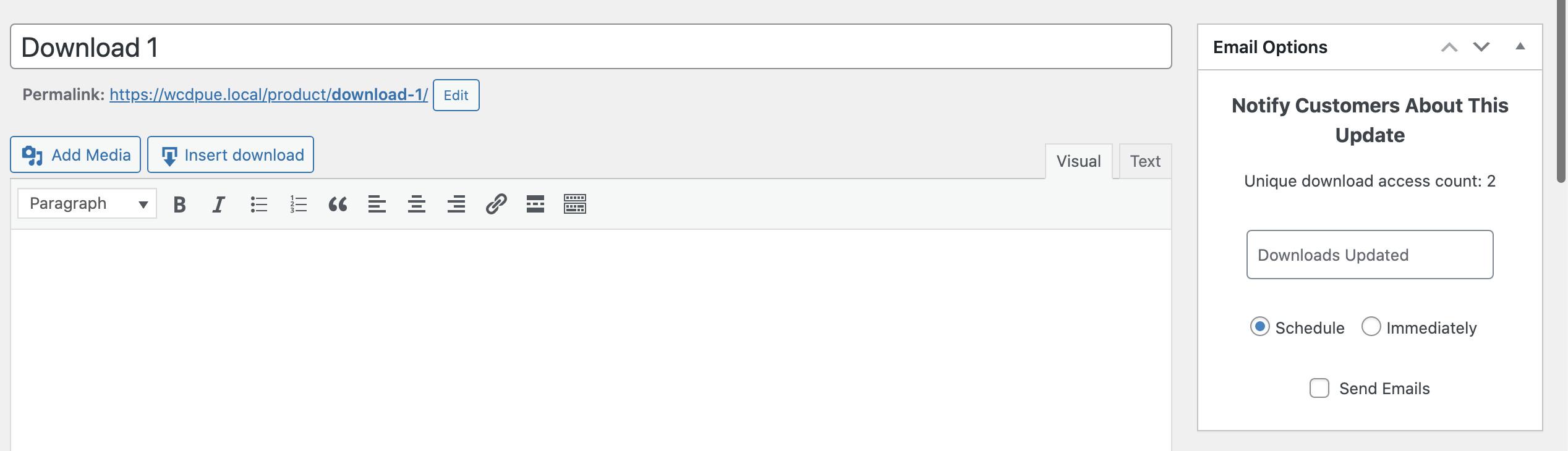 دانلود افزونه Wcdpue Pro   ارسال ایمیل بروزرسانی محصول